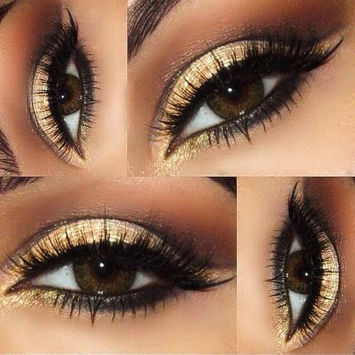 Gold & Black Smoky Eye With Winged Liner | Makeup | Beauty