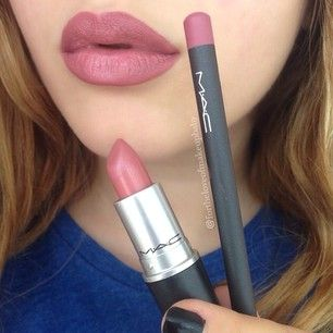Loving this look right now. Kylie Jenner uses MAC soar lip liner with MAC brave lipstick