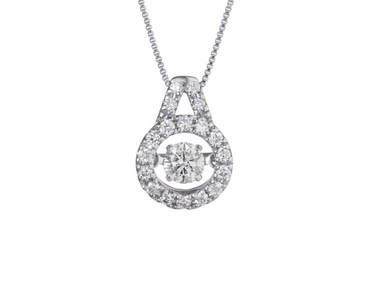 A Lovely 18ct White Gold and Diamond Halo Pendant