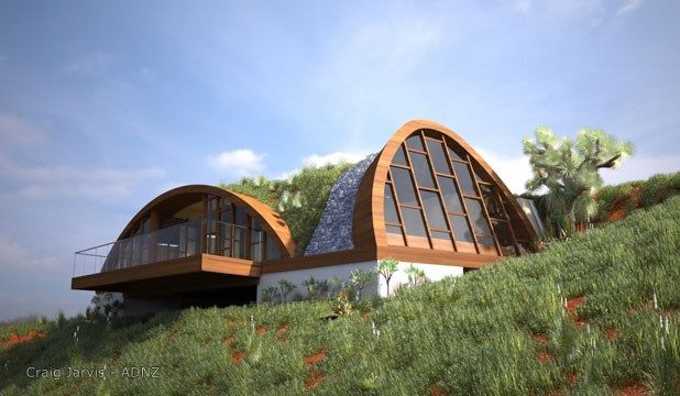 """New Zealand's first house designed as a """"Living Building"""" will take shape at Taylor's Mistake in Christchurch. Designed by Craig Jarvis.  #adnz #eco #livingbuilding #architecture"""