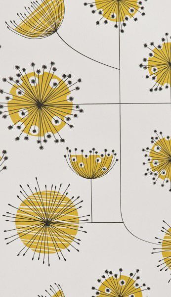 MissPrintu0027s Dandelion Mobile Wallpaper In A Refreshing Porcelain With  Yellow Colour Combination