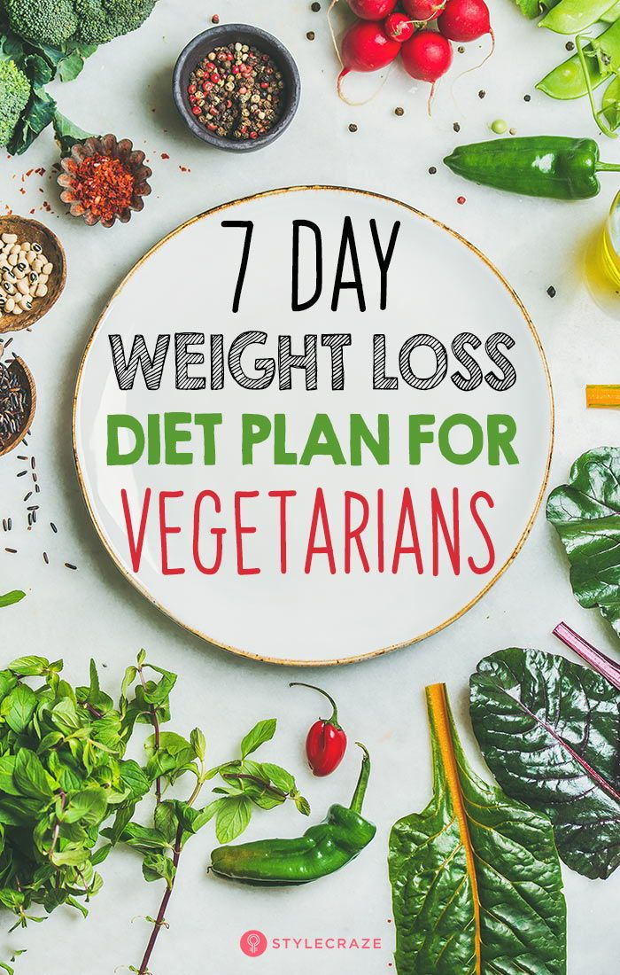 7-Day Weight Loss Diet Plan For Vegetarians: The 7-day vegetarian weight loss pl…