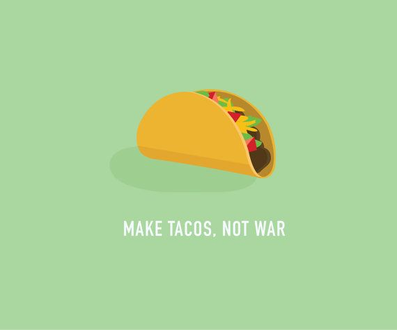 Taco Card  Funny Taco Card  Make Tacos Not by ClassyCardsCreative