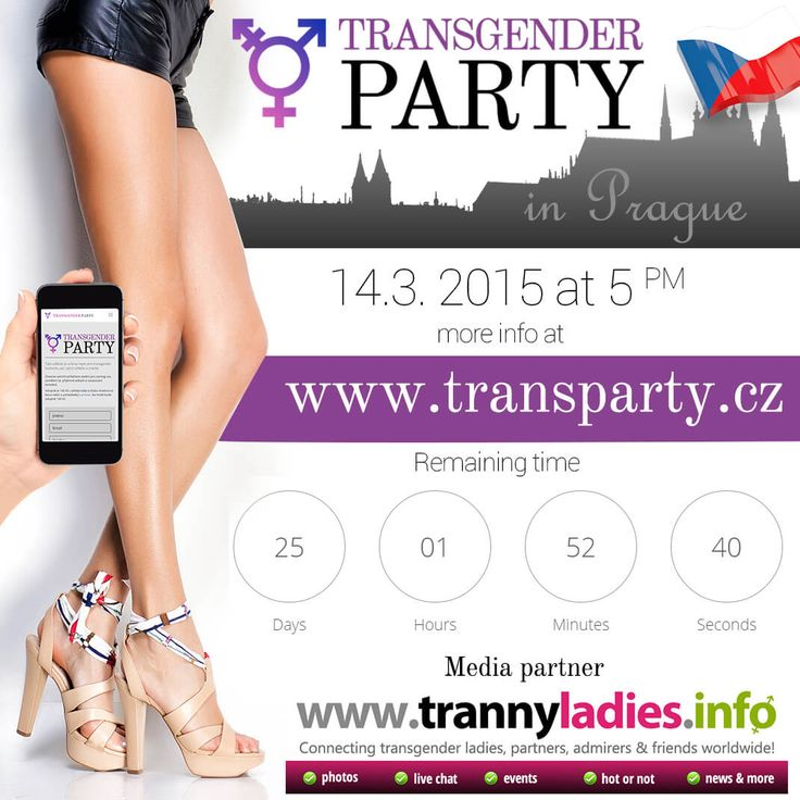 Hello,I'm happy to announce TrannyLadies is now the official sponsor and media partner for Transgender Party Prague. Transgender Party Prague is an event  for the transgender community, their friends and fans. It's an ideal place for coming out in a friendly environment, socializing or just finding out more about transgender culture.  More info at www.transparty.cz