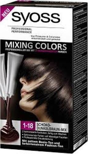 coloration syoss mixing couleur N°1-18 fusion chocolat fonce neuf