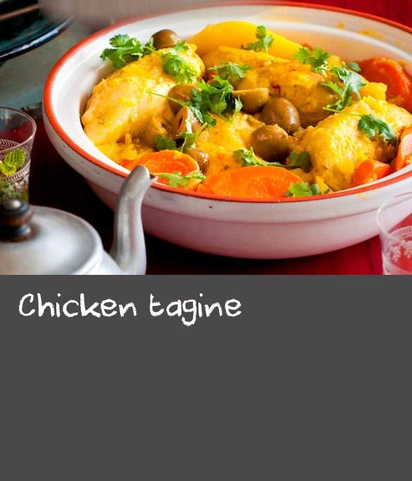 Chicken tagine | Famed for its tagines, Moroccan cuisine is a mix of North African, Middle Eastern and Mediterranean influences. The tagine is a traditional clay pot with a distinct pyramid shape that allows steam to disperse and cook the contents. It is also the name given to dishes cooked within it. Once the lid goes on, there is no lifting to add ingredients or to give them a stir, so Moroccan chefs place great emphasis on the way ingredients are placed inside the tagine. Poultry is a…