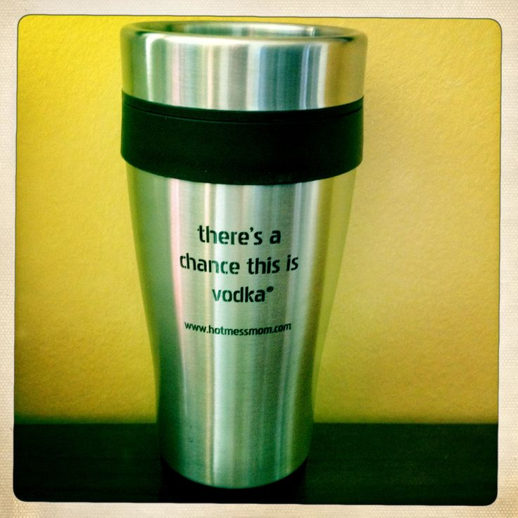 """there's a chance this is vodka"" ® Insulated Travel Mugs"