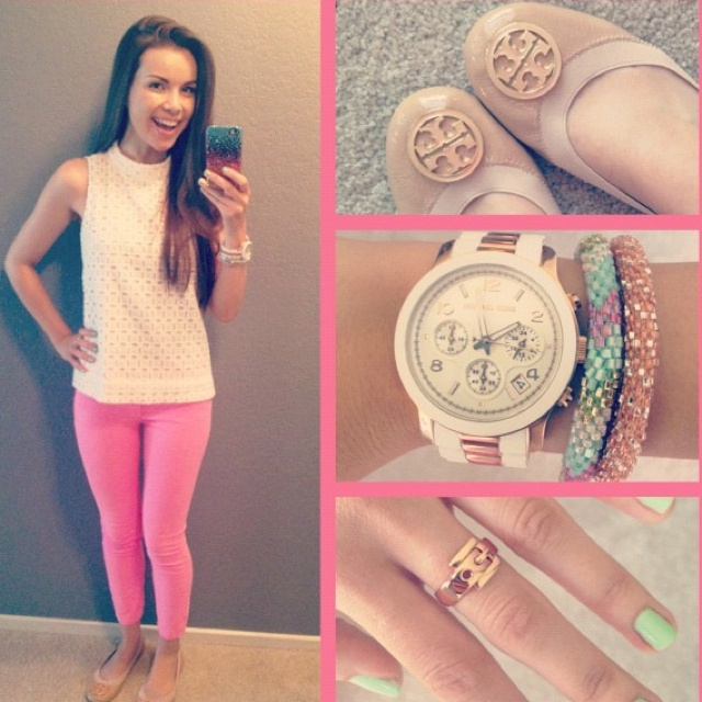 outfit, tory burch flats n accesories :)