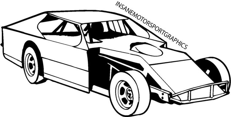 Vehicles For > Dirt Track Stock Car Clip Art Dirt track