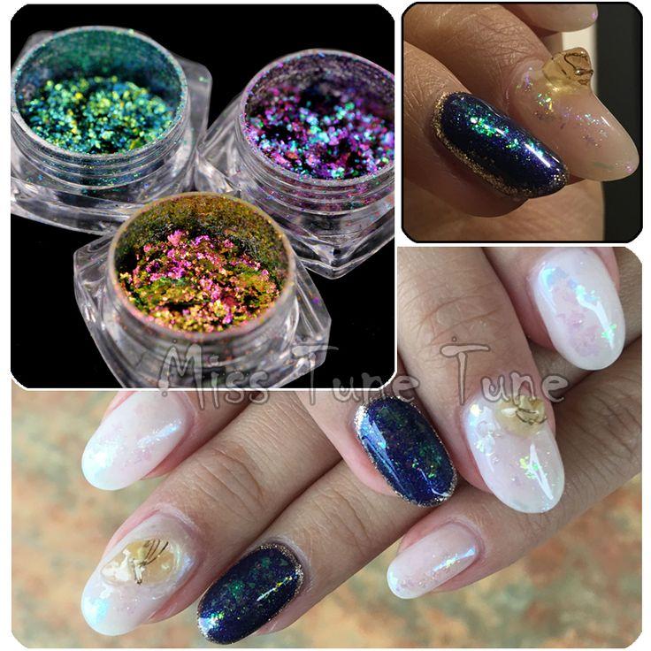 1 Box Chameleon Flakes Shimmer Galaxy Nail Glitter Dust: Best 25+ Galaxy Nail Art Ideas On Pinterest