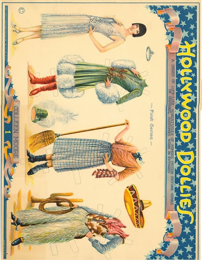 HOllywood Dollies 1925 original - Bobe Green - Picasa Web Albums ~ colleen moore: Paper Dolls, Bobe Green, Paper Art, Paper Dolly, 1925 Originals, Of Papell, Hollywood Dolly, Dolly 1925, Colleen Moore