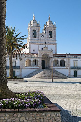 Old Square, Nazare, Portugal