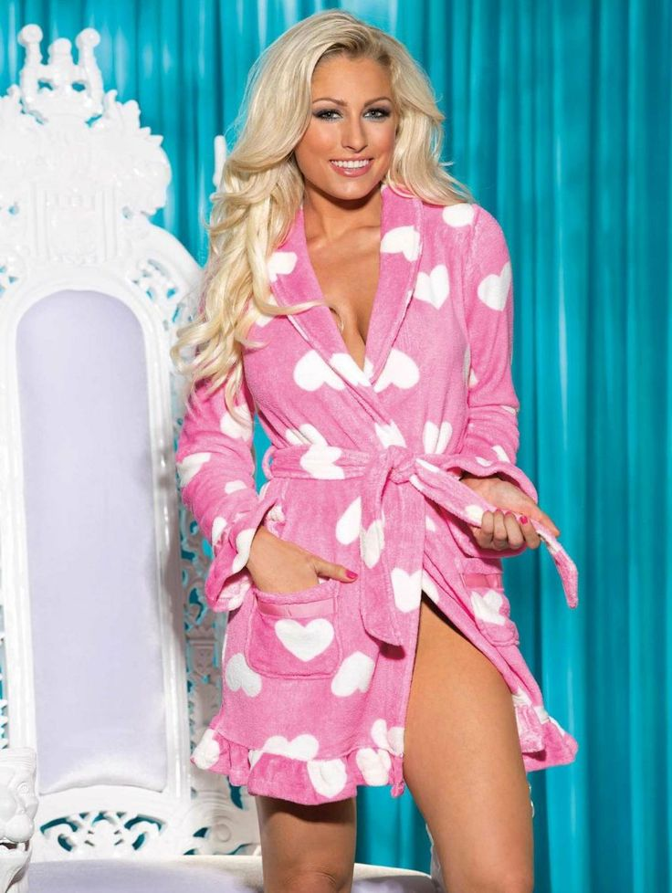 Such a cute fuzzy robe by Shirley of Hollywood! Slip this ...