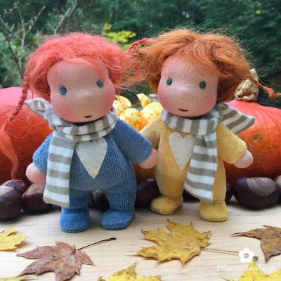 Pflanzenfaerberin Mini Herbst Baby Puppen Verlosung * Mini Autumn Baby Doll Give Away