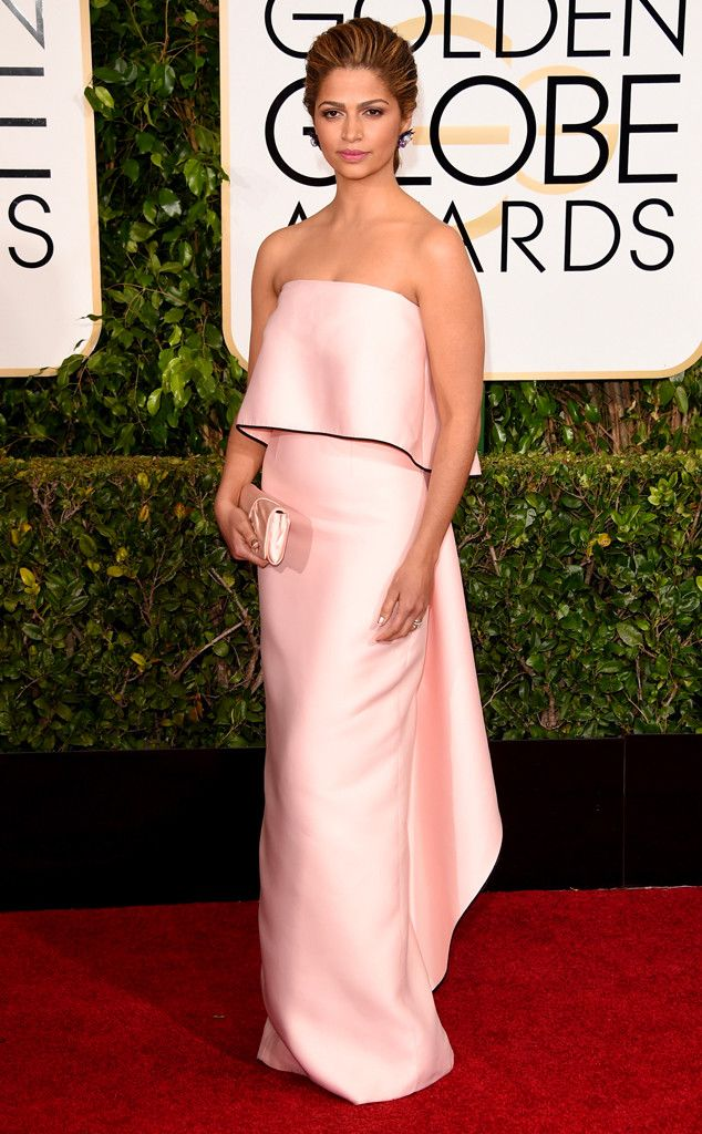 Camila Alves is pretty in pink! This Monique Lhuillier gown looks like it was meant for her.