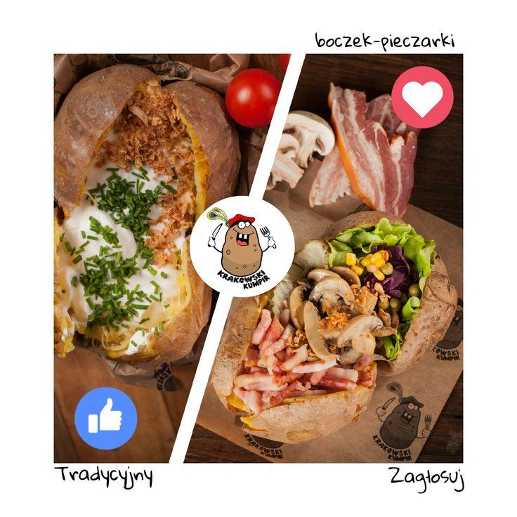 TRADYCYJNY, CZY KUMPIR BOCZEK - PIECZARKI? Macie swojego ulubionego? NASZE MENU ☛ http://krakowskikumpir.pl/menu/ :) #kumpir #krakowskikumpir #kraków #krakow #rzeszów #katowice #warszawa #stolica #polska #polend #best #bakedpotatos #potatos #ziemniak #pieczony #food #goodfood #foodporn #bitwa #tradycja #boczek #pieczarki #jedzenie #menu #zaproszenie #facebook