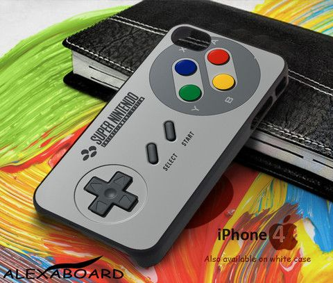 Super Nintendo Controller SNES for iPhone 4, iPhone 5, iPhone 5c, iPhone 6, iPhone 6 plus, iPod 4, iPod 5, Samsung Galaxy Note 3, Galaxy Note 4, Galaxy S3, Galaxy S4, Galaxy S5, Galaxy S6, Phone Case