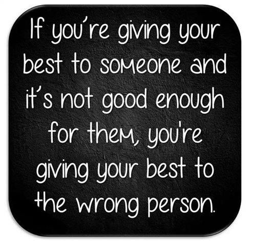 Your best, is just perfect for your best match...Someone who doesn't appreciate you, doesn't deserve you.