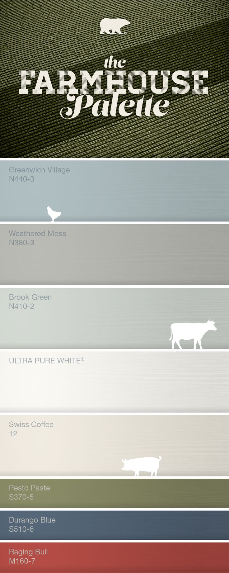 Farmhouse color palette