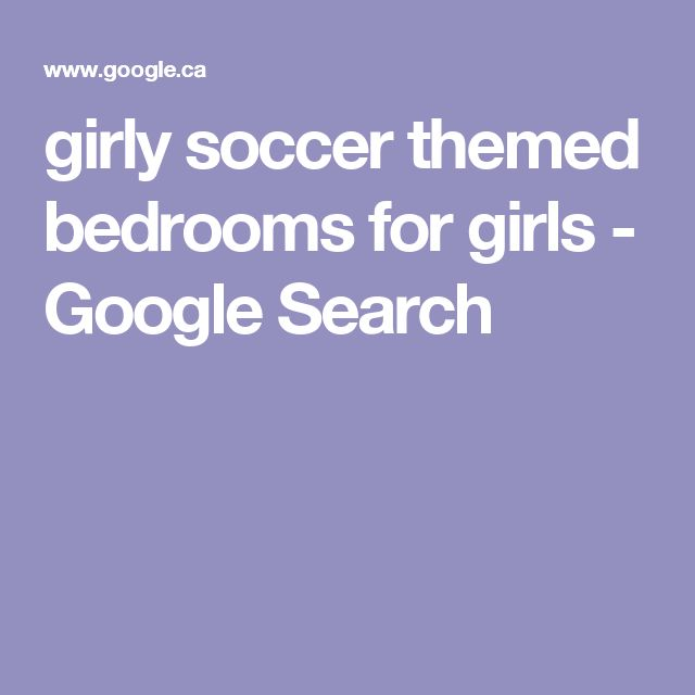 girly soccer themed bedrooms for girls - Google Search