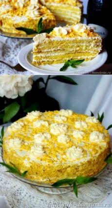 """""""Апфельмусс - торт"""" рецепт с фото, как приготовить торт с яблочным пюре"""