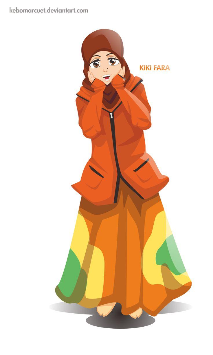 islamic cartoon orange jacket islamic art full body niqab muslim cartoons animated cartoons orange blazer