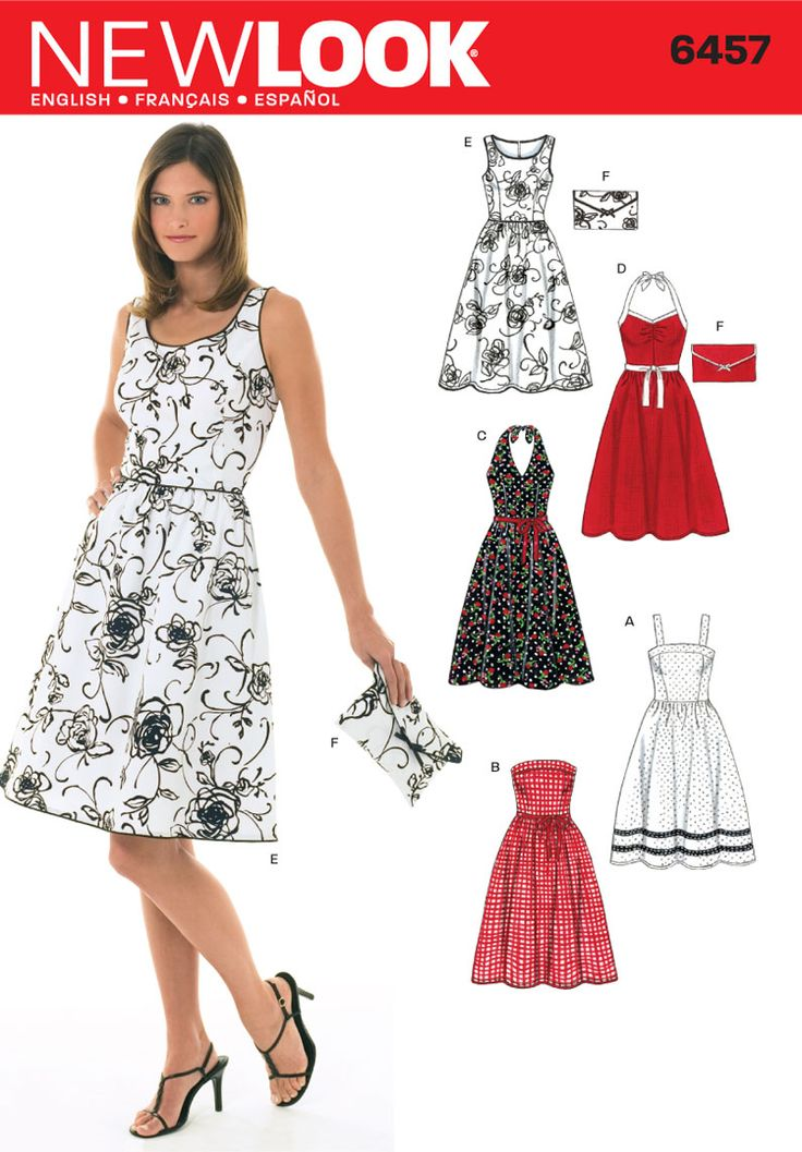 dress pattern sleeveless, halter, sundress, or strapless. gathered waist princess seems.
