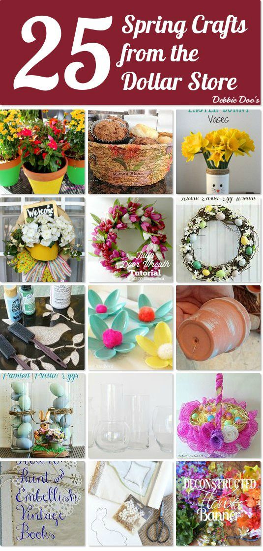25 dollar store spring craft ideas spring the dollar store and dollar stores. Black Bedroom Furniture Sets. Home Design Ideas