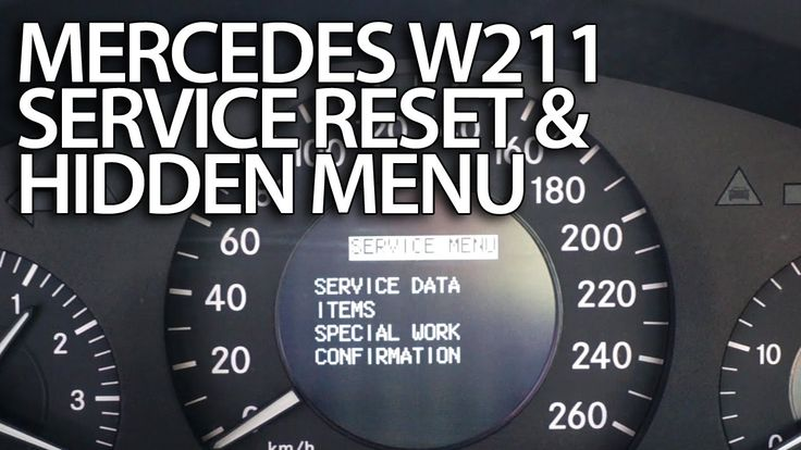 How to #reset #service reminder in #Mercedes-Benz #W211 (emissions inspect. performed on time?)
