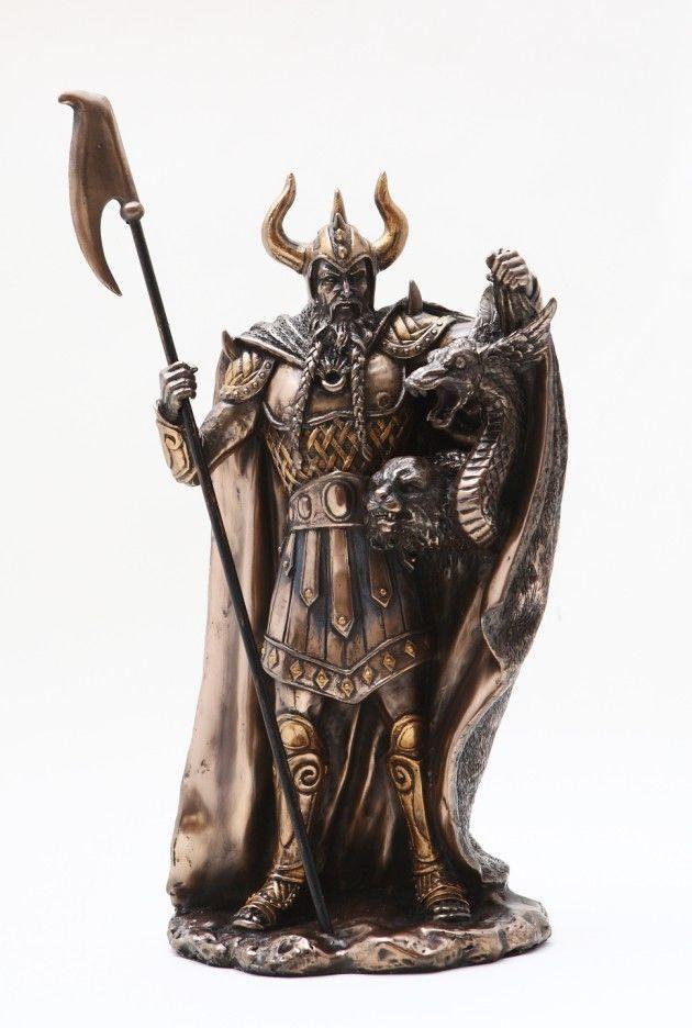 Loki Statue Brother of Odin Jotunn Viking Norse God Trickster Shape Shifter