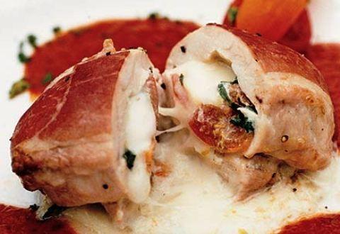 Petto di pollo farcito con formaggio e finocchio - La ricetta di Buonissimo