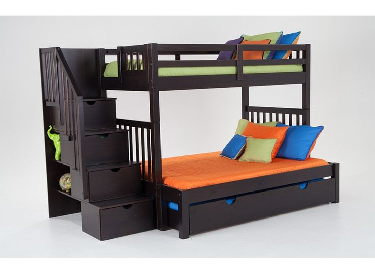 Bunk Bed With Perfection Innerspring Mattresses And Storage/Trundle ...