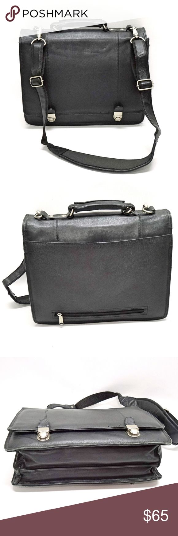 Wilsons Pelle Studio Leather Briefcase/Laptop WILSONS