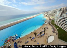 World's largest swimming pool: San Alfonso del Mar resort, Chile