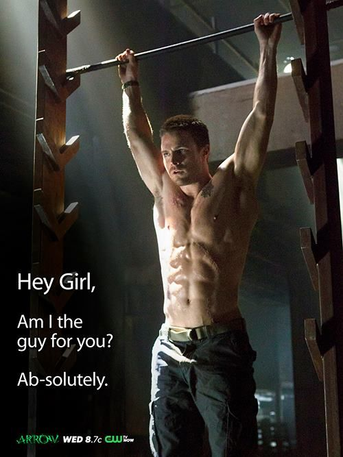 """Stephen Amell as Oliver """"Ollie"""" Queen... // Huumm.. I ab-solutely like it! ;-P"""