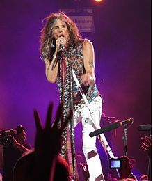 """Steven Tyler: singer, songwriter, multi-instrumentalist and former television music competition judge, best known as the frontman and lead singer of the Boston-based rock band Aerosmith, in which he also plays the harmonica, and occasional piano and percussion. He is known as the """"Demon of Screamin'"""" due to his high screams and his wide vocal range. #newhampshire"""