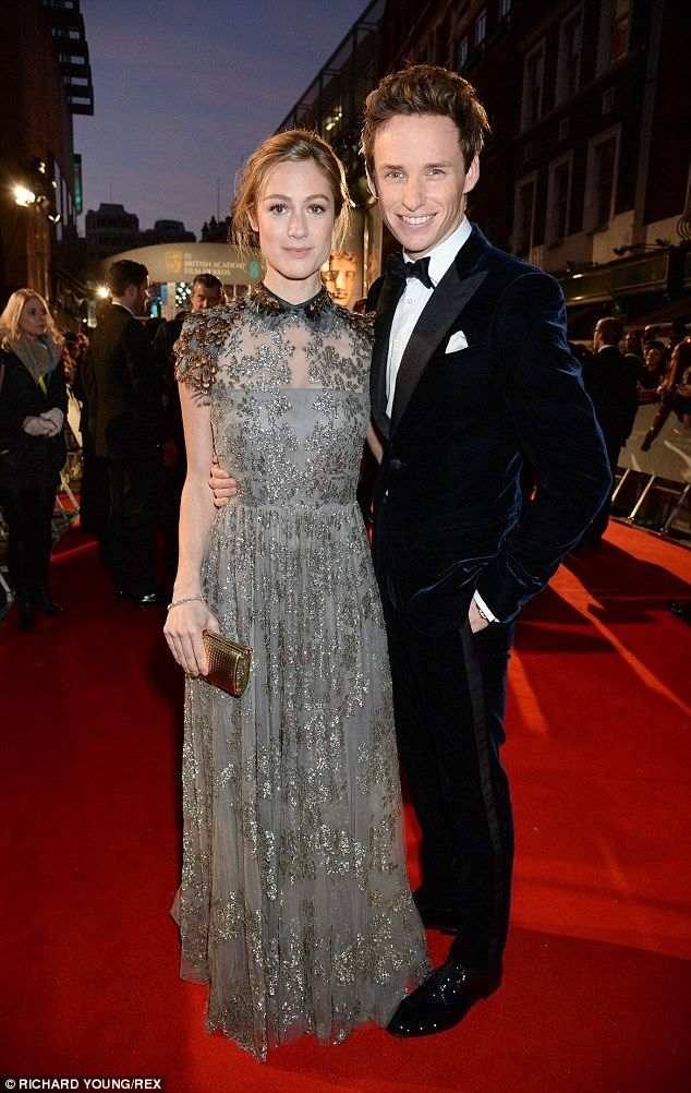 Eddie Redmayne is joined by his stunning wife at the 2015 BAFTAs #dailymail