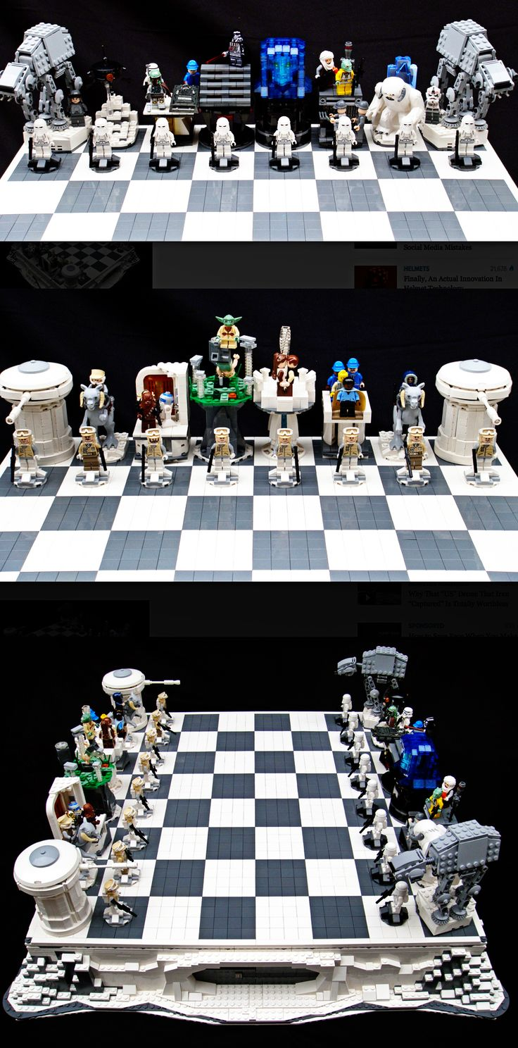 love this empire strikes back chess set! #starwars #empirestrikesback