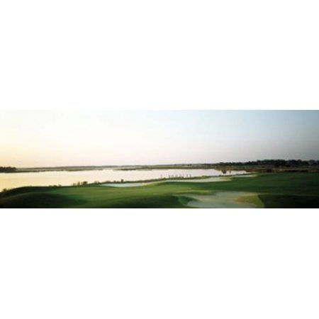 Golf course at the coast Ocean City Golf & Yacht Club Ocean City Worcester County Maryland USA Canvas Art - Panoramic Images (36 x 12)