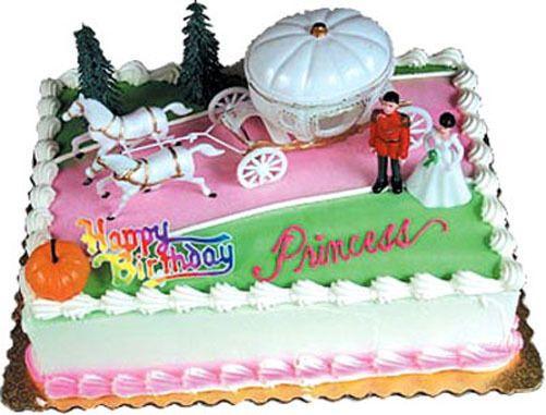 CINDERELLA COACH Cake Kit Topper Birthday Decoration Party Supplies ...