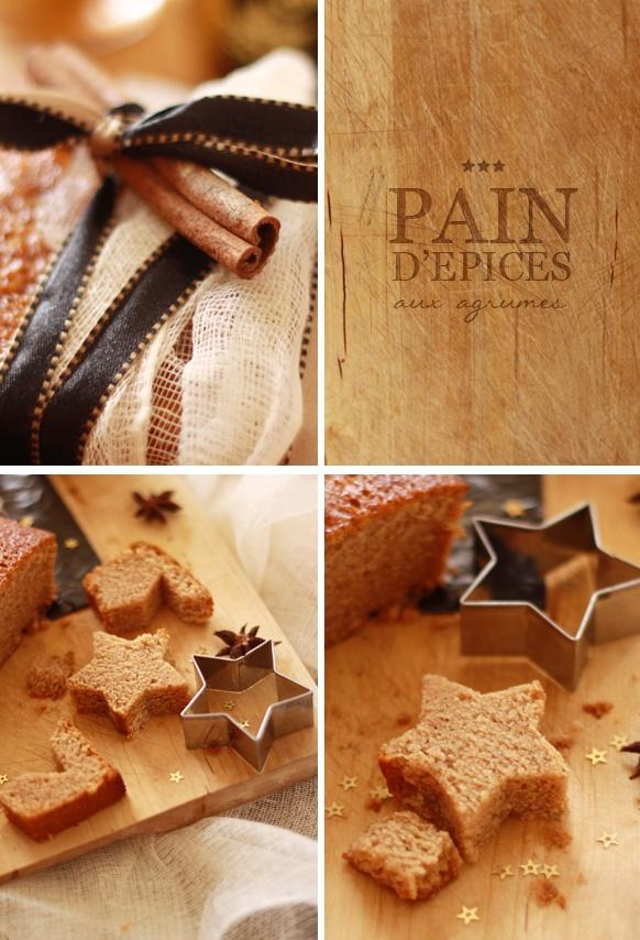 Citrus Gingerbread / Pain d'épices aux agrumes