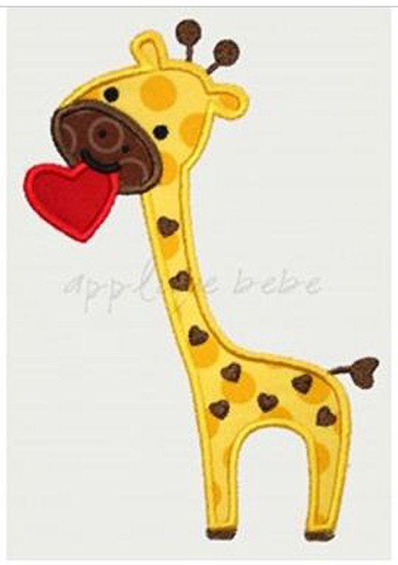 INSTANT DOWNLOAD Valentine Giraffe Machine by AppliqueBebe on Etsy, $4.00