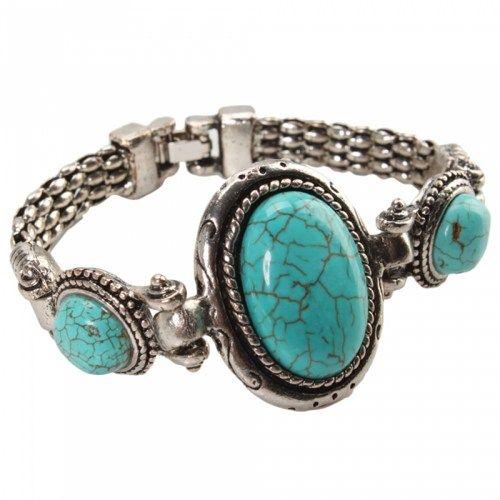 Three Irregular Turquoise Bracelet 06 | favwish - Jewelry on ArtFire