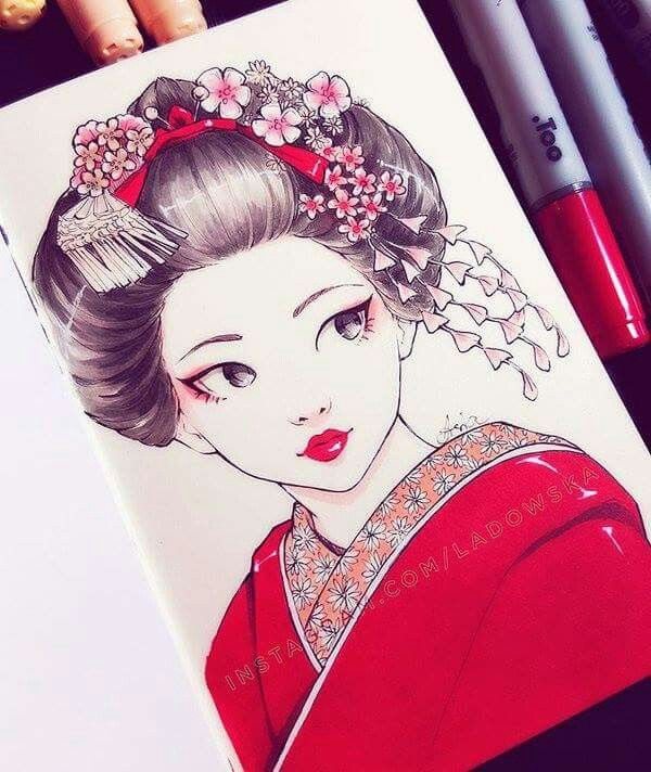 Best 25 Geisha Drawing Ideas On Pinterest Geisha Art