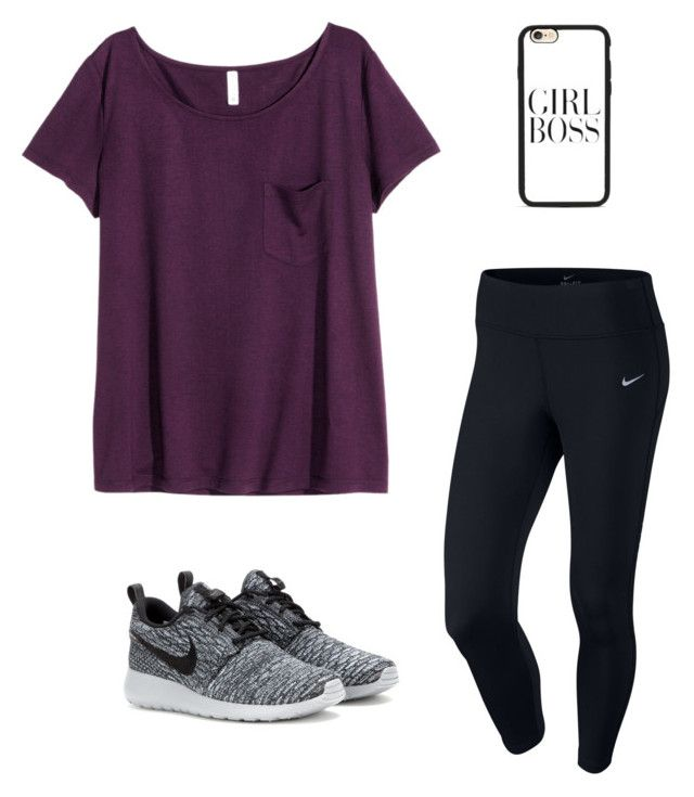 """""""Untitled #169"""" by matilda131 ❤ liked on Polyvore featuring H&M, NIKE, Casetify, women's clothing, women, female, woman, misses and juniors"""