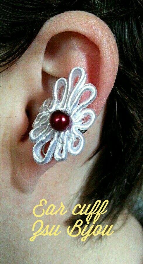 Soutache ear cuff.