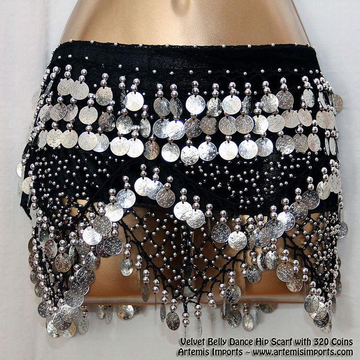 Artemis Imports - Belly Dance Hip Scarf - Velvet with 320 Coins, $28.00 (http://www.artemisimports.com/belly-dance-hip-scarf-velvet-with-320-coins/)