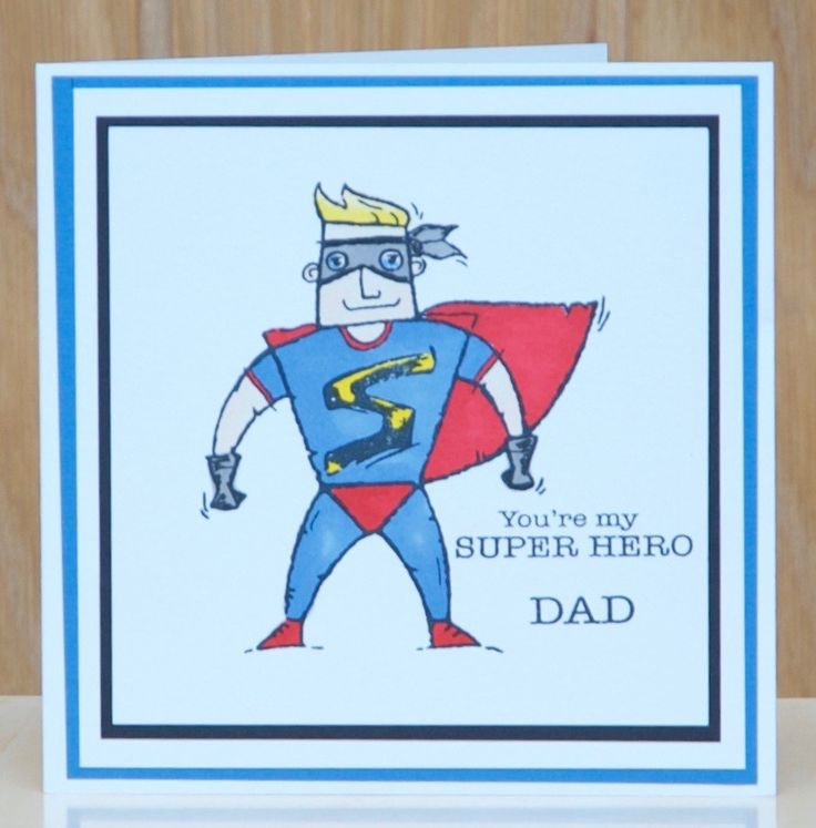 Woodware , Super Hero stamp. Coloured using Pro Markers.