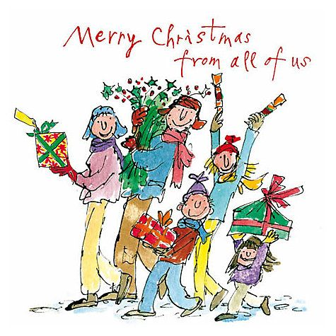 Buy Woodmansterne Quentin Blake Family Charity Christmas Cards, Pack of 5 Online at johnlewis.com