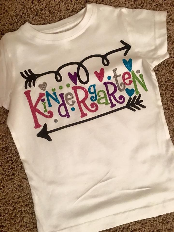 Girl's Kindergarten Tee This shirt can be made with another grade level.  Please contact us to request a different grade level